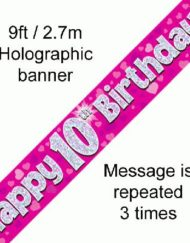 10th Birthday Foil Pink Banner-0