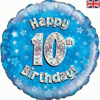 10th Birthday Blue Foil Balloon-0