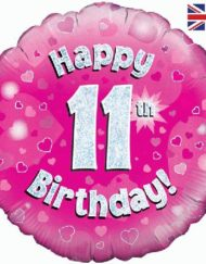11th Birthday Pink Foil Balloon-0
