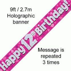 12th Birthday Foil banner-0