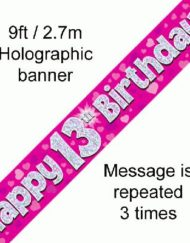 13th Birthday Pink Foil Banner-0