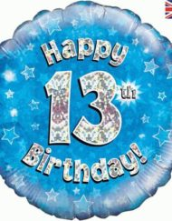 13th Birthday Blue Foil Balloon-0