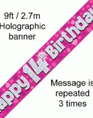 14th Birthday Pink Foil Banner-0