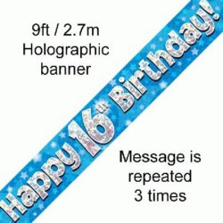 16th Birthday Blue Banner-0