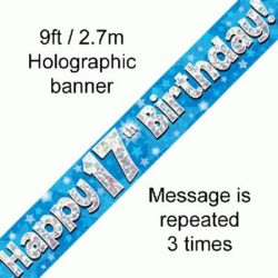 17th Birthday Blue Banner-0