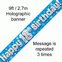 18th Birthday Blue Banner-0
