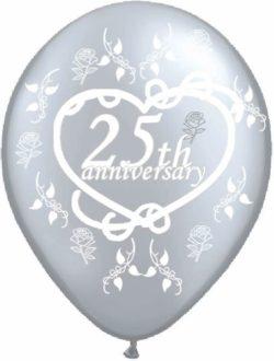 25th Silver Anniversary Latex Balloon-0