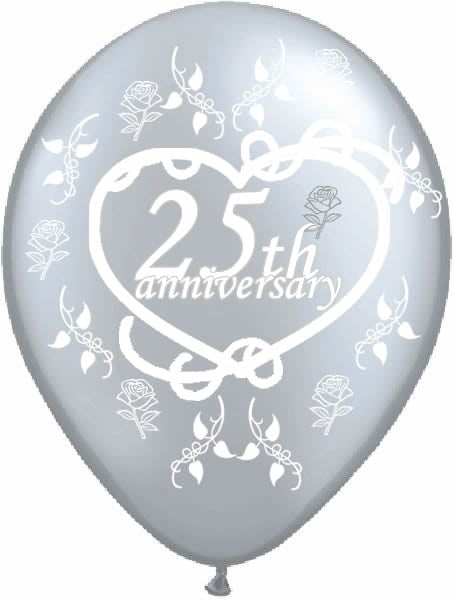 25th Silver Anniversary Latex Balloon-0