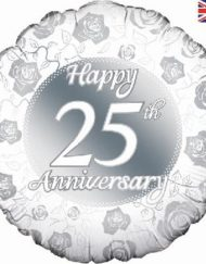 Happy 25th Anniversary Foil Balloon-0