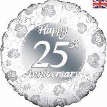 Happy 25th Anniversary Foil Balloon-0