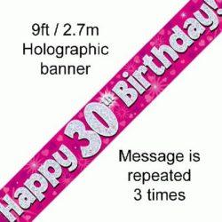 30th Birthday Pink Foil Banner-0