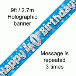 40th Birthday Blue Banner-0