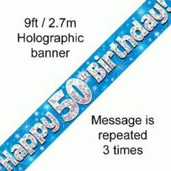 50th Birthday Blue Banner-0