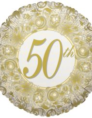 "50th Anniversary 18"" Foil Balloon-0"