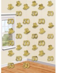 50th Gold Foil String Decoration-0