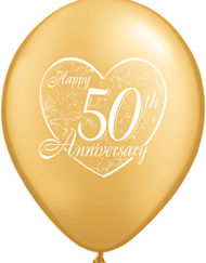 50th Golden Anniversary Latex Balloon-0