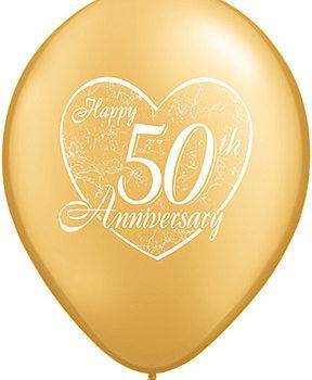 50th Golden Anniversary Latex Balloon-0