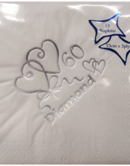 60th Diamond Wedding Anniversary Napkins-0