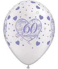 60th Diamond Anniversary Latex Balloon-0