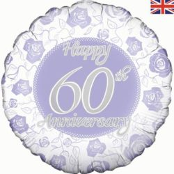 "Happy 60th Anniversary 18"" Foil Balloon-0"
