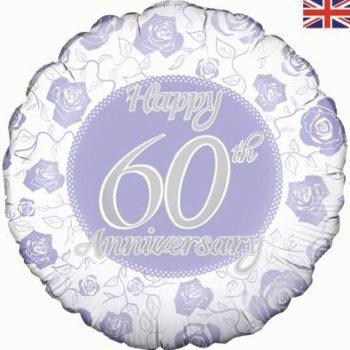 "Happy 60th Anniversary 18"" Foil Balloon-0"