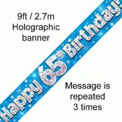 65th Birthday Blue Banner-0