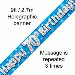70th Birthday Blue Banner-0