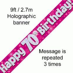 70th Birthday Foil Banner-0