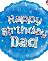 "Happy Birthday Dad 18"" Foil Balloon-0"