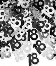 18th Black & Silver table confetti-0