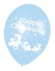 Christening Blue Latex Balloon -0