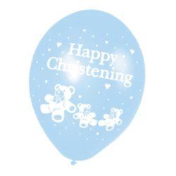Christening Blue Latex Balloon -0