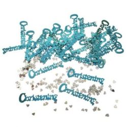 Baby Blue Christening Foil Confetti -0