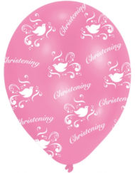 Christening Pink Latex Balloon-0