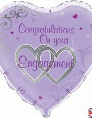 "Engagement 18"" Foil Balloon-0"