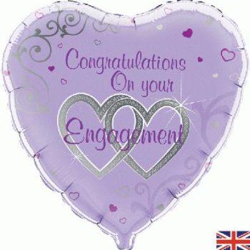 "Engagement 18"" Foil Balloon-0"