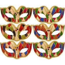 Diamond Eye Mask 6 Assorted colours-0