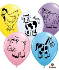Farm Animal Assortment Latex balloon-0