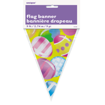 Easter Plastic flag banner-0
