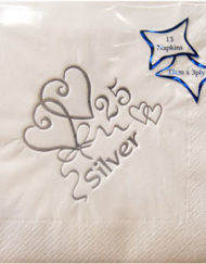 Silver wedding anniversary Napkins-0