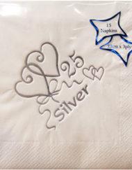 Silver wedding anniversary Napkins-0