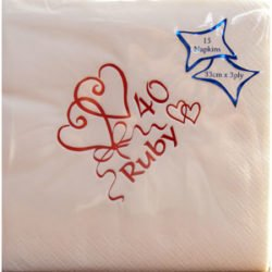 Luxury Ruby Wedding napkins-0