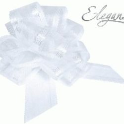 White Organza Pull Bows 50mm-0