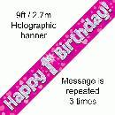 1st Birthday Pink Banner-0