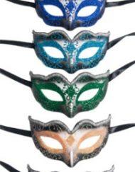 Black Glitter Venetian Eye Mask-0