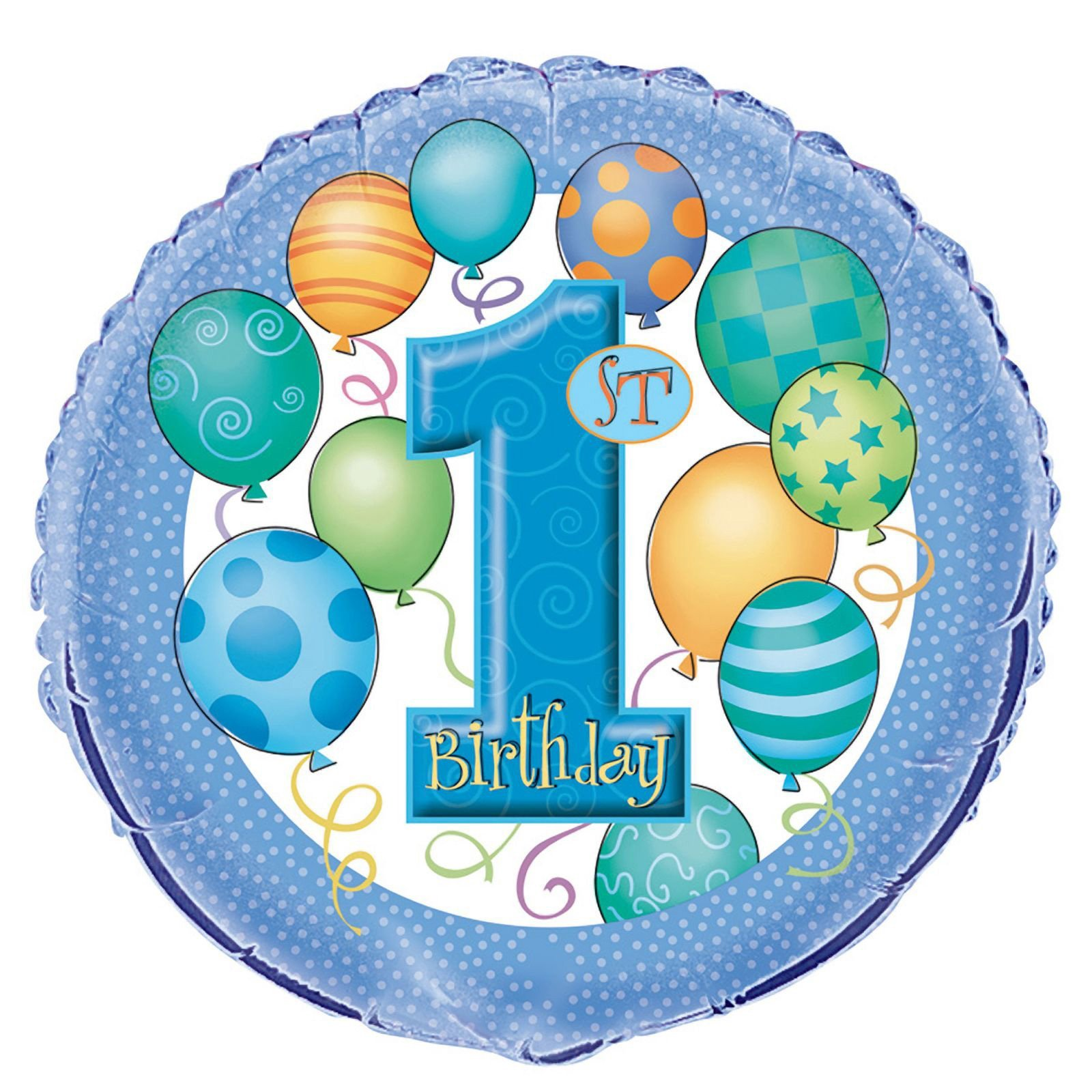 1st Birthday Foil Balloon 18