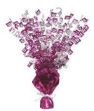 100th Birthday Pink Centerpiece-0