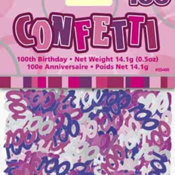 100th Birthday Pink confetti-0