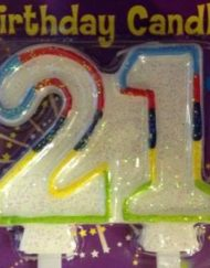 Double Sided 21st Birthday Candles-0