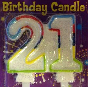 Double Sided 21st Birthday Candles 0